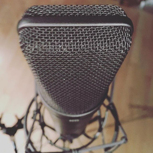 Got to record with this fancy Neumann mic today